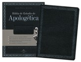 Biblia de Estudio Apologética RVR 1960, Piel Fab. Negro  (RVR 1960 Apologetics Study Bible, Bon. Leather Black)