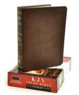 KJV Study Bible, Mantova Brown Simulated Leather