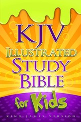 KJV Illustrated Study Bible for Kids, hardcover  - Slightly Imperfect