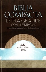 RVR 1960 Biblia Compacta Letra Grande con Referencias, White Gold Imitation Leather