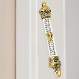 Gold Plated Mezuzah and Scroll