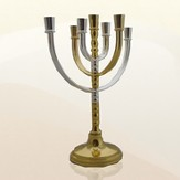 Silver & Gold Plated Menorah