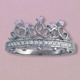 God's Princess Ring, Sterling Silver, Size 10