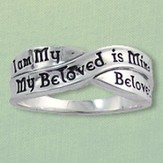 I am My Beloveds Celtic Ring, Sterling Silver, Size 8