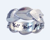 I Will Wait for You Ring, Sterling Silver, Size 9