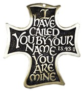 I Have Called You By Your Name, Bronze Cross With Brass Plating