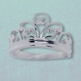 Royal Heritage Sterling Silver Tiara Ring, Size 7