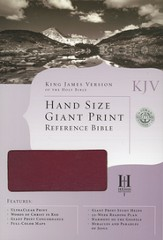 KJV Personal Size Large Print Reference Bible,   Genuine Leather, Burgundy