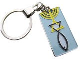Metal Key Chain: Messianic Sign