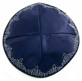 Navy Blue Kippah