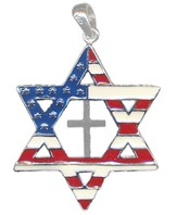 Star of David Pendant, Flag & Cross