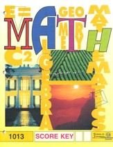 Latest Edition Math PACE SCORE Key 1013