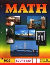 Latest Edition Math PACE SCORE Key 1029