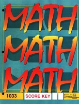 Latest Edition Math PACE SCORE Key 1033