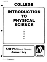 Introduction To Physical Science PACE SCORE Key 1-5