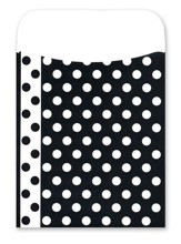 Peel & Stick! Black & White Dots Library Pockets