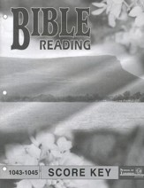 Bible Reading PACE SCORE Key 1043-1045, Grade 4