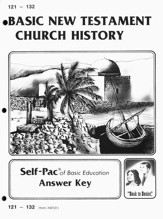 High School Bible Elective: New Testament Church History SCORE Key 121-132