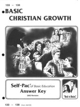 High School Bible Elective: Christian Growth SCORE Key 133-138