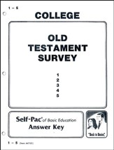 Old Testament Survey Self-Pac Key 1-5