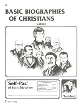 Biographies Of Christians Self-Pac 3, Grades 9-12