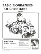 Biographies Of Christians Self-Pac 7, Grades 9-12