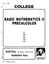 College Math 2 Solution Key 11-15, Grades 9-12