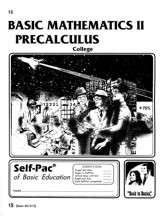 College Math 2 Precalculus Self-Pac 15