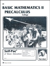 College Math 2 Precalculus Self-Pac 20