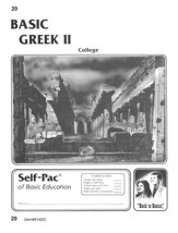Greek Self-Pac 20, Grade 9-12