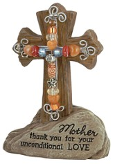 Mother Pedestal Beaded Cross