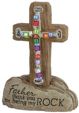 Father Pedestal Beaded Cross