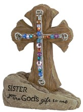 Sister Pedestal Beaded Cross
