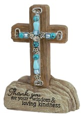 Thank You Beaded Pedestal Cross