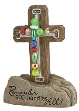 Comfort Pedestal Beaded Cross
