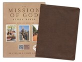 HCSB The Mission of God Study Bible, Brown Simulated Leather - Slightly Imperfect