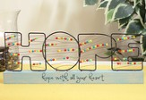 Hope, Bead and Wire Tabletop Plaque