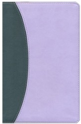 KJV UltraThin Reference Bible, Gray & Periwinkle Simulated Leather