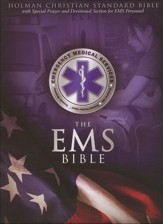 HCSB Emergency Medical Services Bible, Blue Simulated Leather