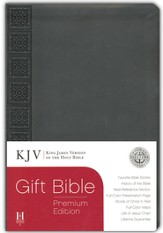 KJV Gift Bible, Premium Edition, Gray Simulated Leather