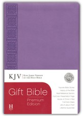 KJV Gift Bible, Premium Edition, Purple Simulated Leather