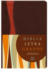 Biblia RVC Letra Gde. Tam. Manual, Piel Sim. chocolate/Cobrizo  (RVC Hand Size Giant Print Bible, Brown/Rust Sim. Leather)