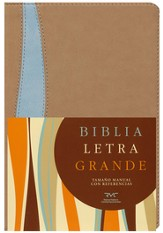 Biblia RVC Letra Gde. Tam. Manual, Piel Sim. Tostado/Azul  (RVC Hand Size Giant Print Bible, Tan/Blue Sim. Leather)