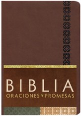 Biblia Oraciones y Promesas RVC, Piel Sim. Canela  (RVC Prayers & Promises Bible, Cinnamon Sim. Leather)
