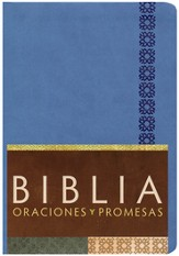 Biblia Oraciones y Promesas RVC, Piel Sim. Azul Cobalto  (RVC Prayers & Promises Bible, Cobalt Blue Sim. Leather)