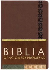 Biblia Oraciones y Promesas RVC, Piel Sim. Canela Ind.  (RVC Prayers & Promises Bible, Cinnamon Sim. Leather Ind.)