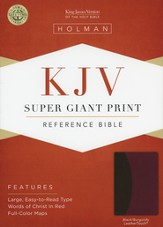KJV Super Giant Print Reference Bible, Black/Burgundy  LeatherTouch