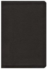 HCSB Large Print UltraThin Reference Bible, Black Genuine Calfskin Leather
