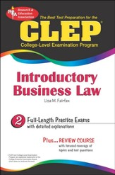 CLEP Introductory Business Law plus Timed Exams on CD-ROM