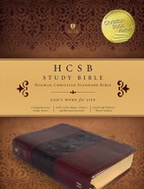 HCSB Study Bible, Mahogany Simulated Leather, Thumb-Indexed